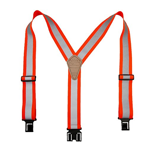 Perry Suspenders Elastic Hook End Reflective Suspenders, Neon Orange]()