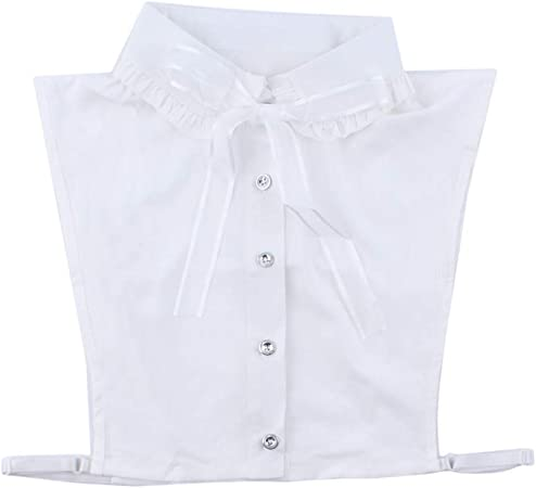 Ogquaton Media Camisa de Cinta Falso Cuello Blusa Desmontable para Mujer Tops Collares Falsos Vestidos Suéteres Ropa Accesorios para Damas Regalo de niñas, Blanco práctico y práctico: Amazon.es: Hogar