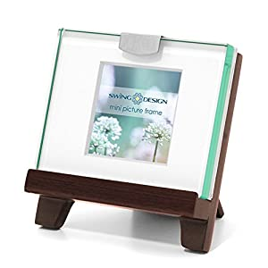 swing design frame easel walnut mini 2x2