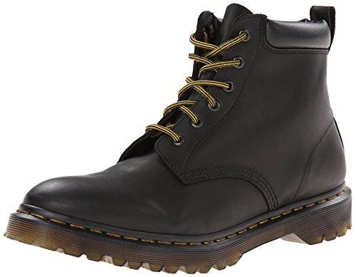 Collar Eye Boot 6 Padded (Dr. Martens Men's 939 6-eye Hiker Boot,Black Greasy,7 UK/8 M US)