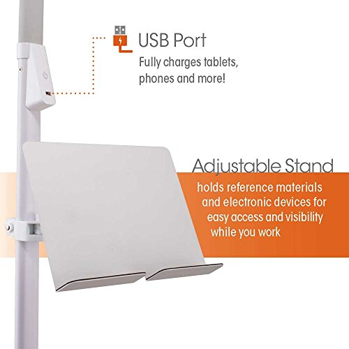 Ottlite Dual Shade Led Floor Lamp With Usb Charging Station