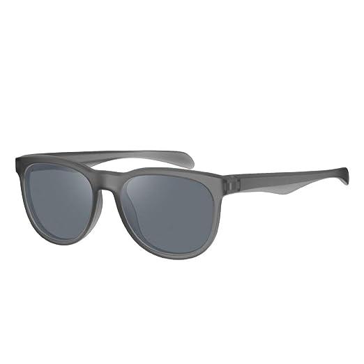 Avoalre Gafas de Sol Mujer en Moda 2019 Gafas de Sol Mujer Redondas con Marco Medio de Acero Inoxidable Lentes UV400 de PC en Color Gris Oscuro Gafas ...