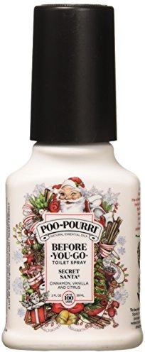 Secret Santa Claus Christmas Poo Pourri Bathroom Spray 2-Ounce Bottle