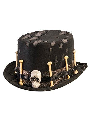 Forum Novelties Party Supplies Unisex-Adults Voodoo Top Hat, Black, Standard, -