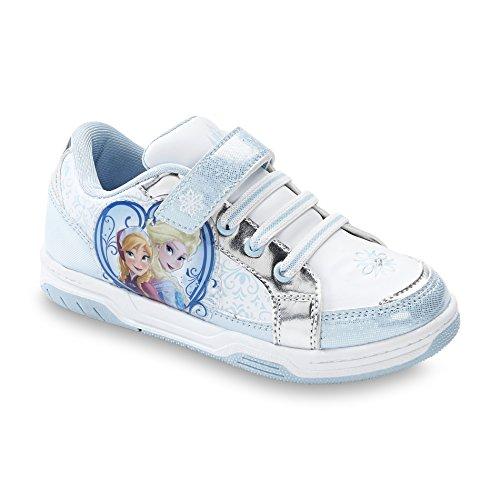 Disney Frozen Toddler/youth Girl's Sneaker Court Anna & Elsa