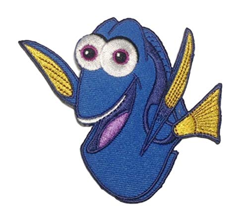 Dory Character 3 1/4 Inches Tall Embroidered Iron On Patch