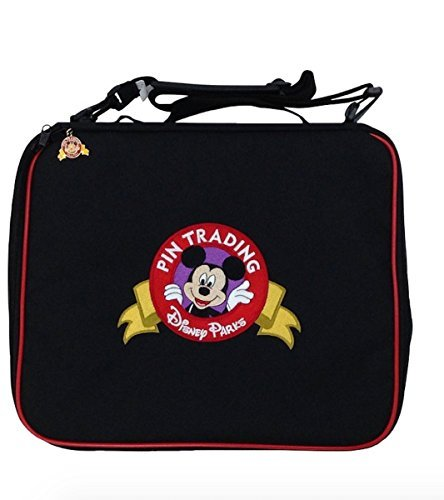 - Disney Parks Mickey Mouse Black Pin Trading Bag