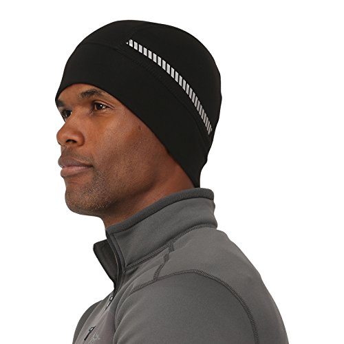 TrailHeads Men's Power Cap - 4-way Stretch Skull Cap - black/silver reflective