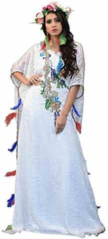 2e60d635a0 Kolkozy Fashion Women s Evening Dresses with Gold Handwork Kaftan Violet