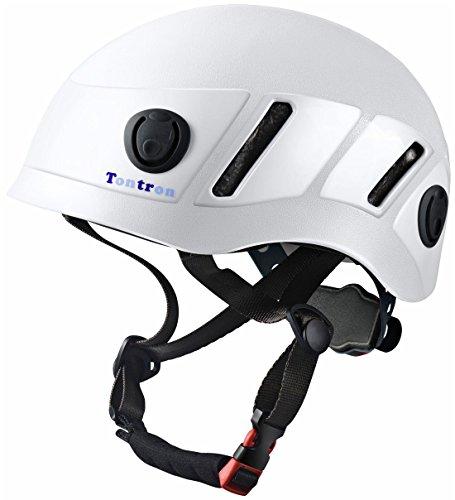 Tontron Climbing Caving Helmet (White, Large) ()
