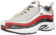 Reebok Unisex Adult's Daytona DMX Sneaker, Skull Grey/Shark/White/Primal red, 12 M US