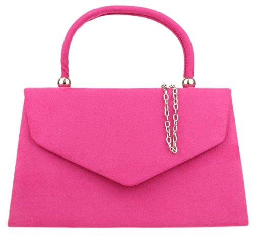 Para De Fucsia Material Cartera Handbags Mujer Mano Girly Sintético Zqa86YxEnw