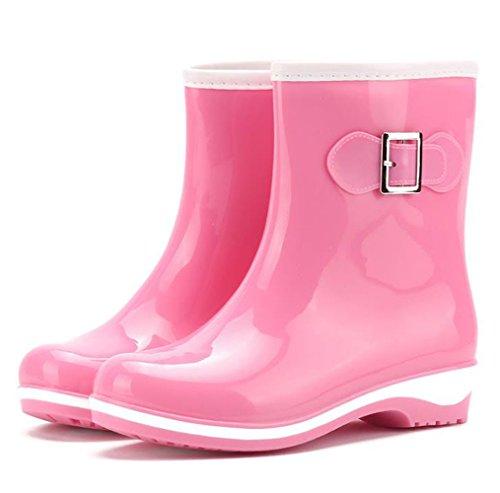 Ein bißchen 2018 Neu brauchbar Damen Warm Regenstiefel Gummistiefel Rosa-KZ