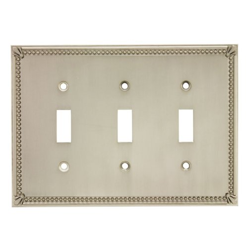 Duplex Outlet Triple Toggle Switchplate - 4