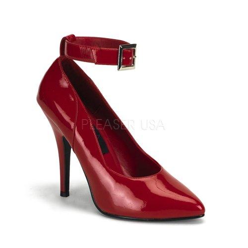 (Pleaser Women's Seduce-431 Anke-Strap Pump,Red Patent,7 M US)