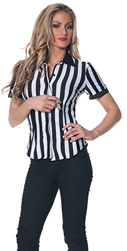 Womens Halloween Costume- Referee Fitted Shirt Adult Costume Small