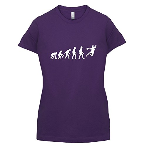 Evolution Of Man Handball - Femme T-Shirt - Violet - M