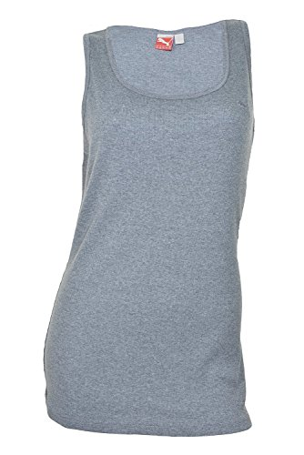 Puma Womens Ribbed Cat Boy Tank Top M Medium Gray (Puma Womens Tank Top)
