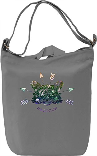 Hipster Raccoon Borsa Giornaliera Canvas Canvas Day Bag| 100% Premium Cotton Canvas| DTG Printing|