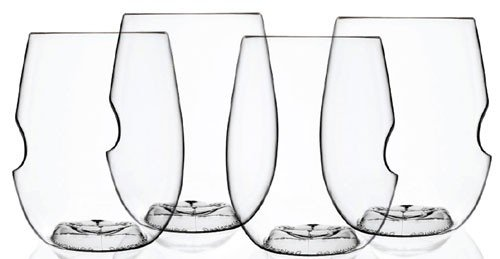 Govino 12 Ounce Dishwasher Safe Series Wine/Cocktail Glasses (4-Pack) (Top Glass Rack)