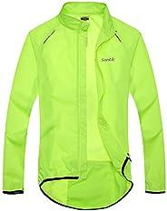 Santic Men's Cycling Skin Coat Jersey Bicycle Windproof Jacket Rain