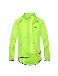 Santic Men's Cycling Skin Coat Jersey Bicycle Windproof Jacket Rain Coat