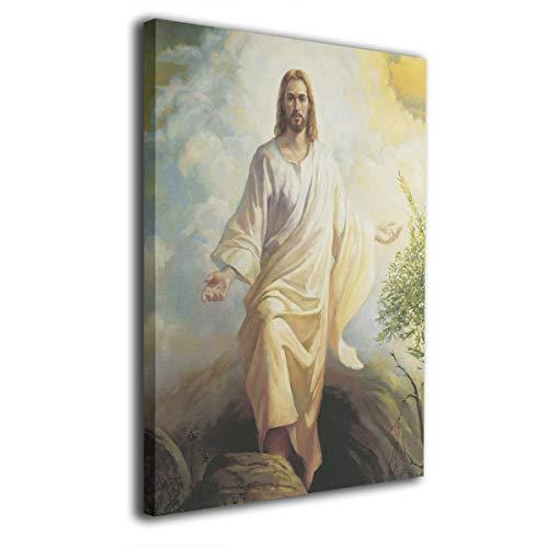 OANAklsd Risen Christ Modern Printed Painting Canvas Wall Art Print for Living Room Decor Home Decorations (Framed 16x20inch)