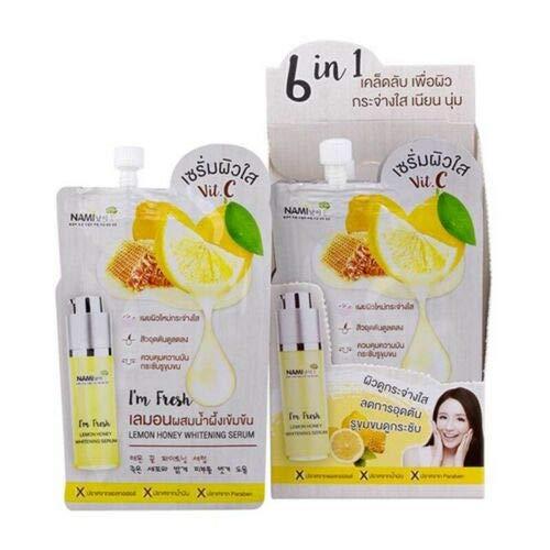 Nami Lemon Honey Whitening Serum Skin Looks Radiant Dark Spots and Acne Marks.