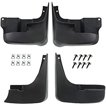 A-Premium Splash Guard Mud Flaps For Toyota Sienna 2004-2010 Without Running Boards Front and Rear 4 PCS