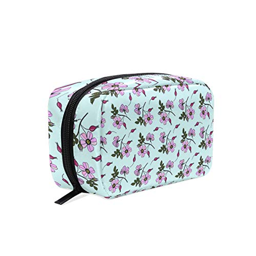 Fashion Square Cosmetic Bag Briar Seamless Background Toiletry Bag Multifunction Storage Portable Travel Bag For Women ()