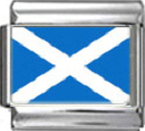- Stylysh Charms Scotland Scottish Flag Photo Italian 9mm Link PC153