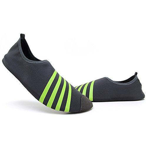 Schnell trocknende Aqua-Wasser-Schuhe Santiro Frauen-Männer für Strand-Pool-Brandungs-Yoga-Übung Grau 2