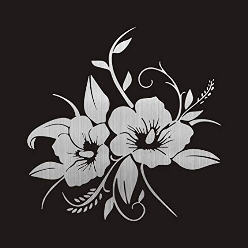 - AjaxStore - New 15.8cmx15.9cm Tender And Beautiful In Full Bloom Flower Vinyl Decal Delicate Car Sticker for Auto Products Car Accessories