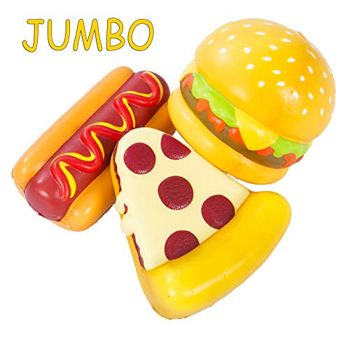 AILIMY 2019 New Hamburger Giant Hot Dog Bread Cheese Pizza Squishy Jumbo Cream Scented Food Soft Squishies Slow Rising Squeeze Toys ()
