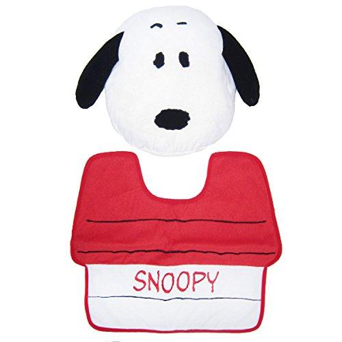 PEANUTS toilet cover and mat 2 Snoopy by Nakajima Corporation