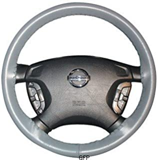 product image for Wheelskins | C12-grey | 2005-2008 | Dodge Ram Truck Leather Steering Wheel Cover | Grey