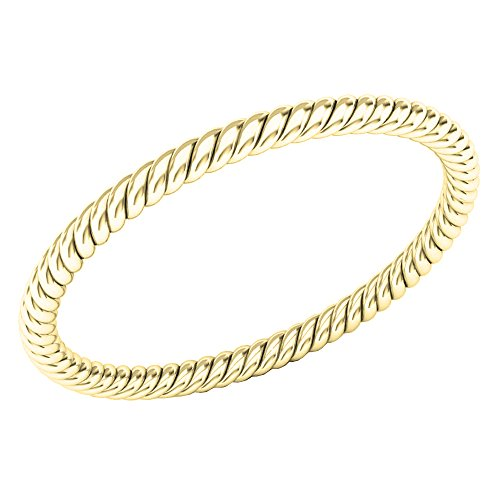 Dazzlingrock Collection 14K Ladies Bridal Rope Style Wedding Band Ring, Yellow Gold, Size 7 ()
