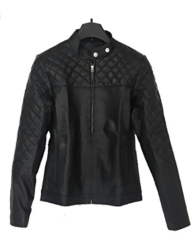 Leather4u Genuine Leather jacket for women - lambskin leather LL861 M Black