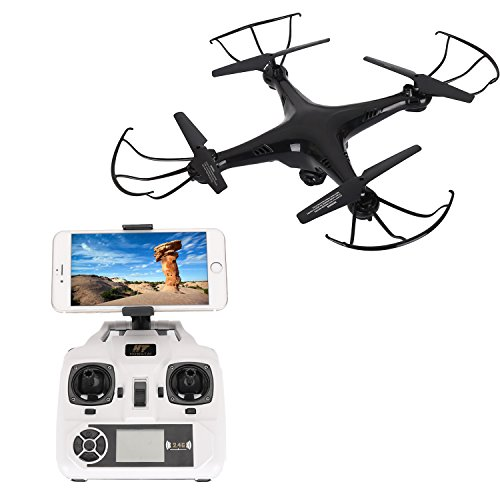 Camera drone APP control,HT Drone Quadcopter with Live Video Camera 720P,Altitude Hold,Gravity Sensor,Easy to Fly and Shoot,Bonus Battery by HT Drone