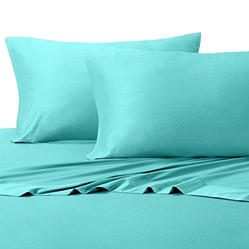 C BAMBOO SHEETS, 600 Thread Count, Silky Soft sheets 100% Viscose from Bamboo Sheet Set, King, Aqua ()
