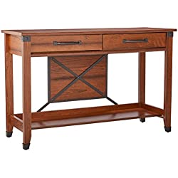 Sauder Carson Forge Sofa Table, Washington Cherry Finish