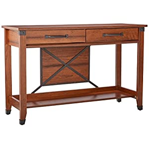 Sauder 414443 Carson Forge Sofa Table, L: 47.17″ x W: 17.01″ x H: 30.35″, Washington Cherry finish