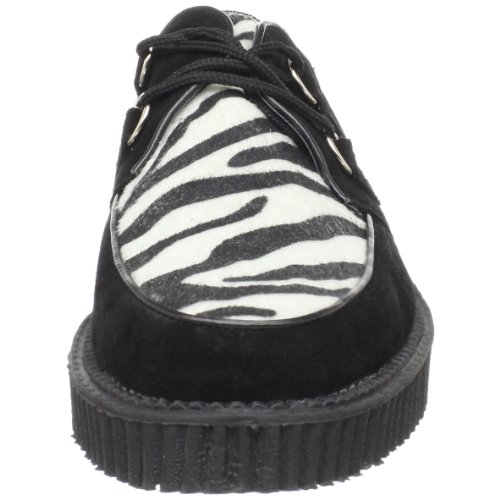 CREEPER Zebra 4 37 Fur Suede UK 600 EU Blk Demonia Bw7Aqq