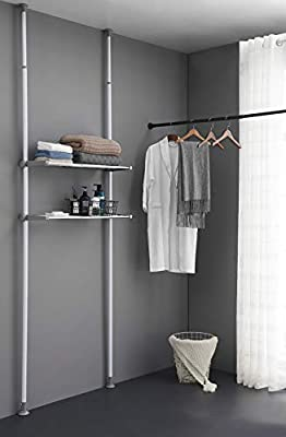ALLZONE Bathroom Organizer, Over The Toilet Storage Rack, Over The Washer Shelf for Laundry Room