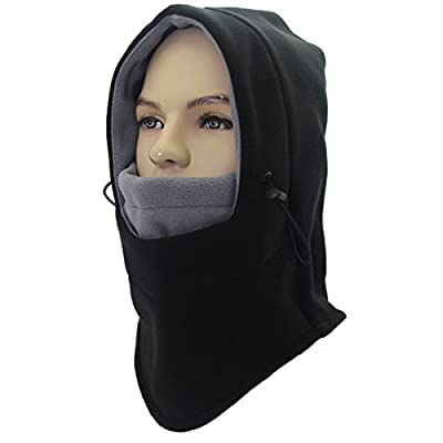 Miracu Heavyweight Balaclava Windproof Ski Face Mask, Soft Fleece Winter Hat/Hood