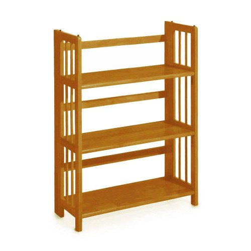 Home Decorators Collection Mission Style 38 x 27.5 Inch Light Oak Folding/Stacking Bookcase, 27.5