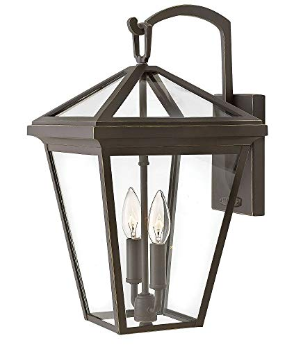 Hinkley 2564OZ-LL Alford Place Outdoor Wall Sconce, 2-Light LED 10 Total Watts, Oil Rubbed Bronze ()