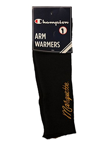 Champion Marquette Golden Eagles Womens Navy Yellow Arm Warmers (One Size)