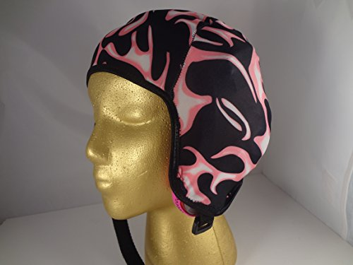 Wrestling Hair Cap- Pink Flames- (Black trim) (Wrestling Hair Gear compare prices)