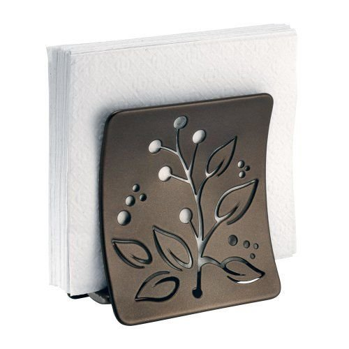 interdesign-buco-napkin-holder-for-kitchen-countertops-table-bronze-new